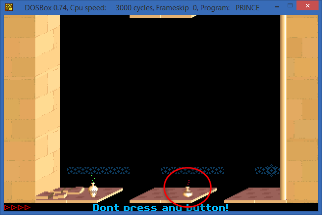 Ashampoo_Snap_2015.02.11_12h22m39s_001_DOSBox 0-74- Cpu speed-     3000 cycles- Frameskip  0- Program-   PRINCE.png